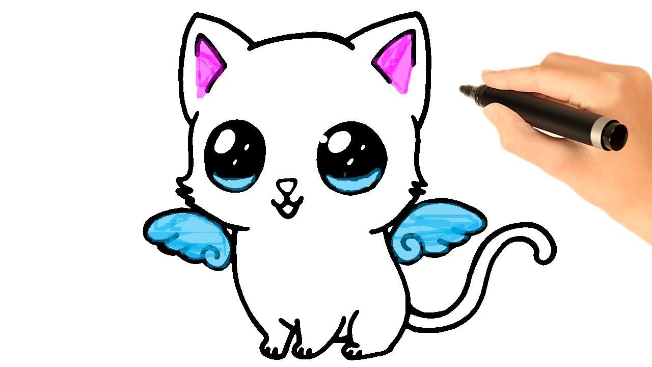 Cara Menggambar Anak Kucing Kawaii Youtube