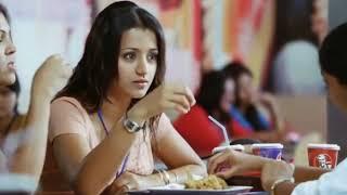 Puthu puthu varigala🎶 thamarai ilai neer💚❣️ pachaikili muthucharam movie  trisha😘 whatsaap status