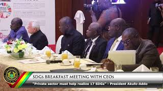 SGDs Breakfast Meeting with CEO's