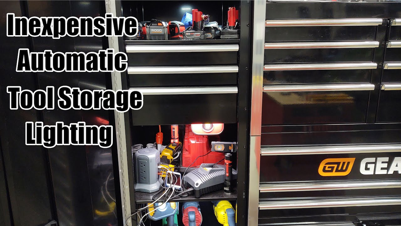 led lighting for tool storage organization with motion sensors inexpensive
