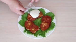 Гренки с томатами и яйцом пашот