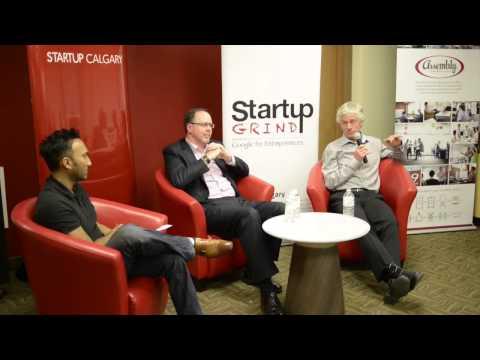 Liam Christie & Bob McKenzie (MetroNet Comms Corp) at Startup Grind Calgary