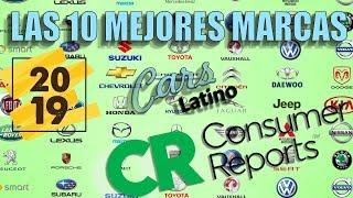 Gambar cover Las 10 Mejores Compañias de Autos por Consumer Reports (2019) *CarsLatino*