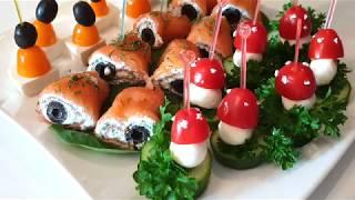 Вкусные и быстрые закуски на любой случай вечеринку праздничный стол