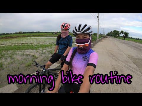 MORNING BIKE ROUTINE   vlog no. 1 by Diane Mananing