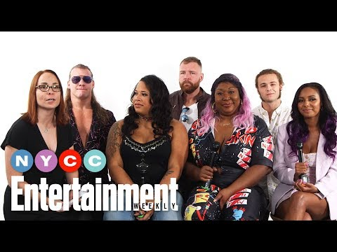 All Elite Wrestling's Jon Moxley, Chris Jericho & More On Show   #NYCC19   Entertainment Weekly