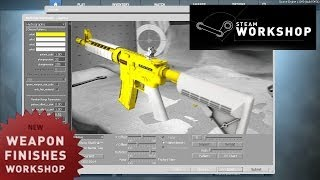 Cs:go Workshop: Weapon Finishes - How To Create Your Own Skin Guide - Update Video