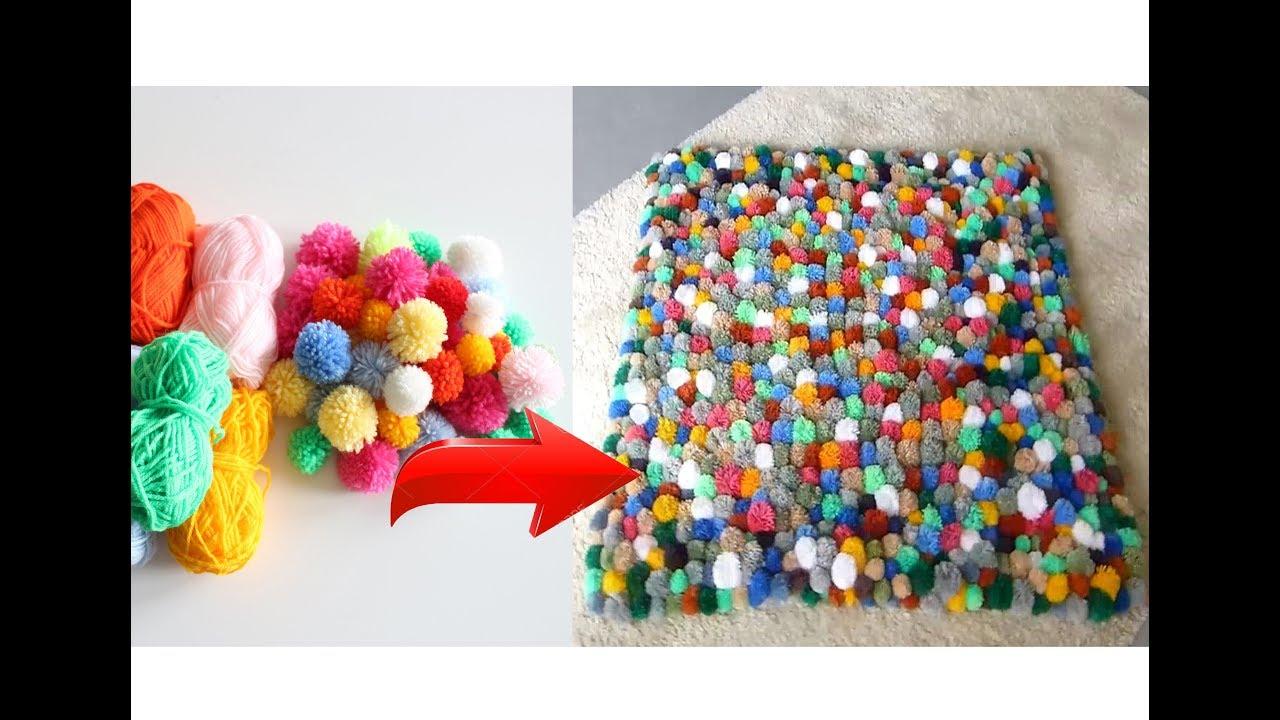 Beste Diy Ideen Pompom Wolle Teppich Selber Machen Beautiful