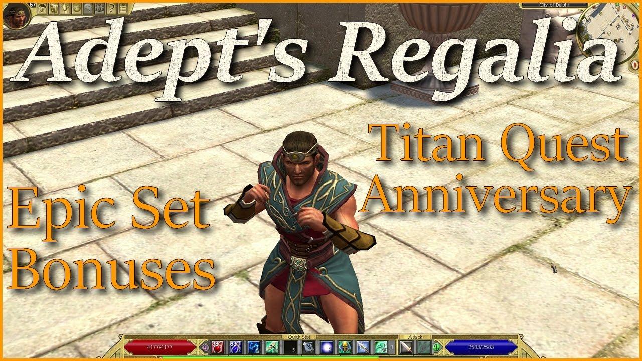 titan quest anniversary adept 39 s regalia epic set youtube. Black Bedroom Furniture Sets. Home Design Ideas