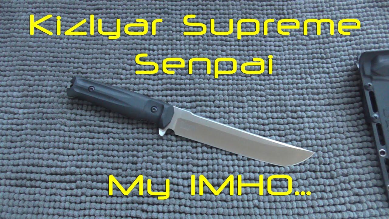 Нож SENPAI Kizlyar Supreme. Уличный тест. - YouTube