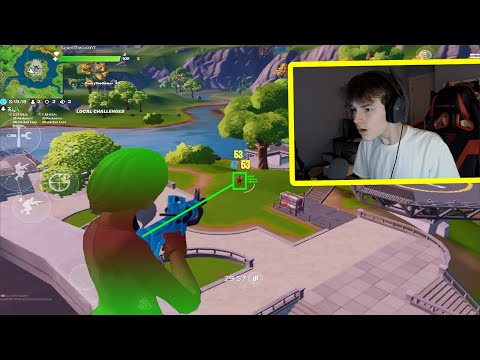 I Used AIMBOT in Fortnite Mobile...