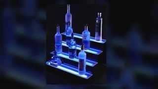 Lighted Liquor Bottle Shelves Display From Armana Productions