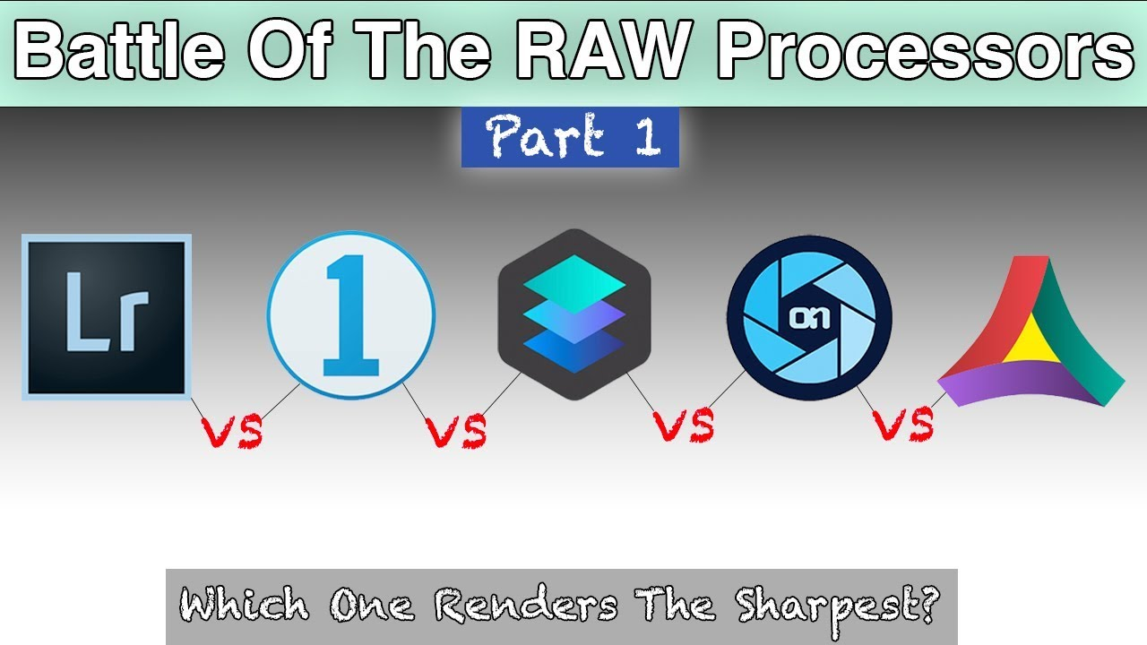 Software Comparison | Lightroom vs Capture One vs Luminar vs On1 Photo RAW  vs Aurora HDR