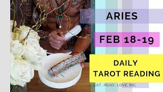 "ARIES DAILY "" WHEN THE LOVE YOU AND READY TO COMMIT "" SOULMATE FEB 18-19 TAROT READING"