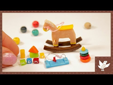 Miniarure Kids Crafts || Miniature Toys for Baby Doll || Polymer Clay