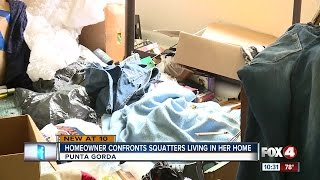 Woman confronts squatters living in her home in Charlotte County, Florida