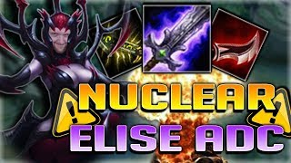 100% CRIT NUCLEAR ELISE ADC IS SO OP!! LCS INCOMING?! Nuclear Elise ADC - Patch 7.17