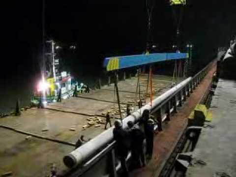 Shouraka -  Loading, Transport & Unloading Spun pile From Vessel