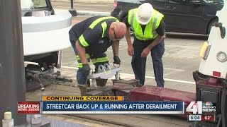 UPDATE: Streetcar back in service following track switch issue