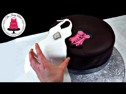 wedding shower cake elegant and sexy how to with the icing artist