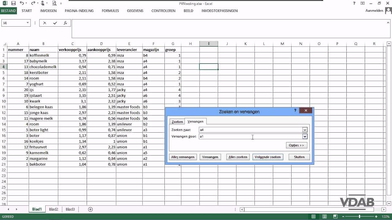 Citaten Zoeken Excel : Excel zoeken en vervangen youtube