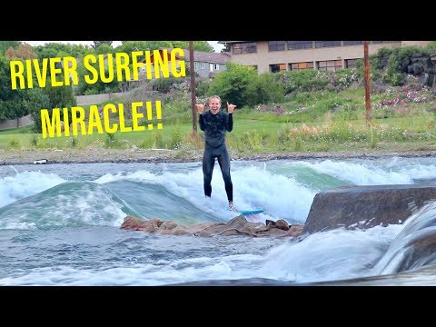 RIVER SURFING PROGRESSION in BEND OREGON JULY 2018