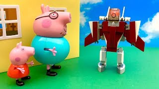 Świnka Peppa i Robot z Kosmosu  Bajka dla dzieci po Polsku