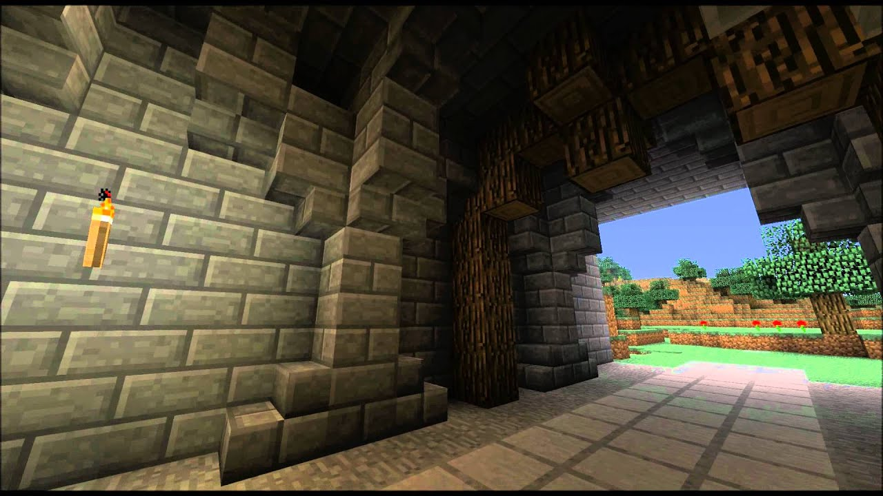 Minecraft Tutorial How To Build Medieval Tunnels Youtube