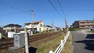 EF210牽引貨物列車(上り)&313系(下り)上地新道踏切W通過