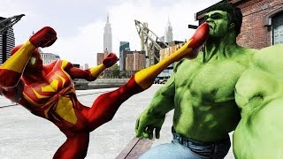 SPIDER-MAN (Civil War) VS THE INCREDIBLE HULK - EPIC BATTLE - GTA IV