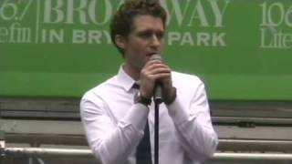 "Matthew Morrison: ""Leaving on a Jet Plane"" 8/13/09"