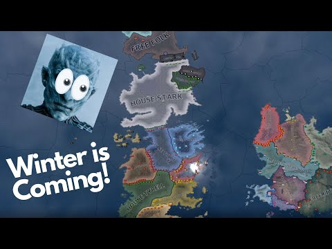 Game of Thrones Westeros Battle Royale - Hearts of Iron 4 Timelapse  