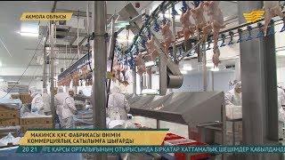 Макинск құс фабрикасы өнімін коммерциялық сатылымға шығарды