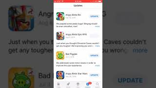 Angry birds got removed from the App Store
