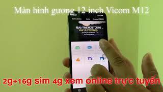 Camera gương Vicom M12 android 8.1