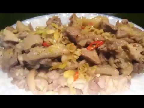 Cách làm món gà cựa xào sả ớt giòn ngon!