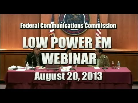 Webinar on Low Power FM Radio