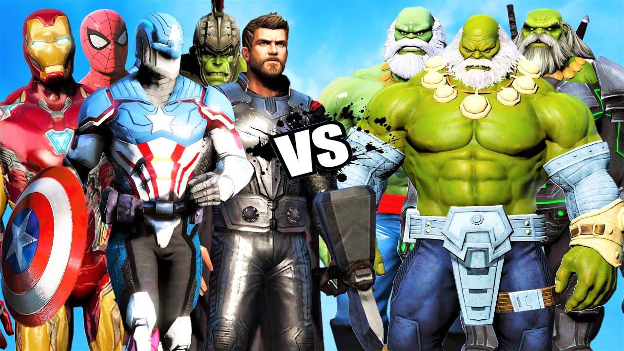 THE Avengers Vs Hulk Maestro Team