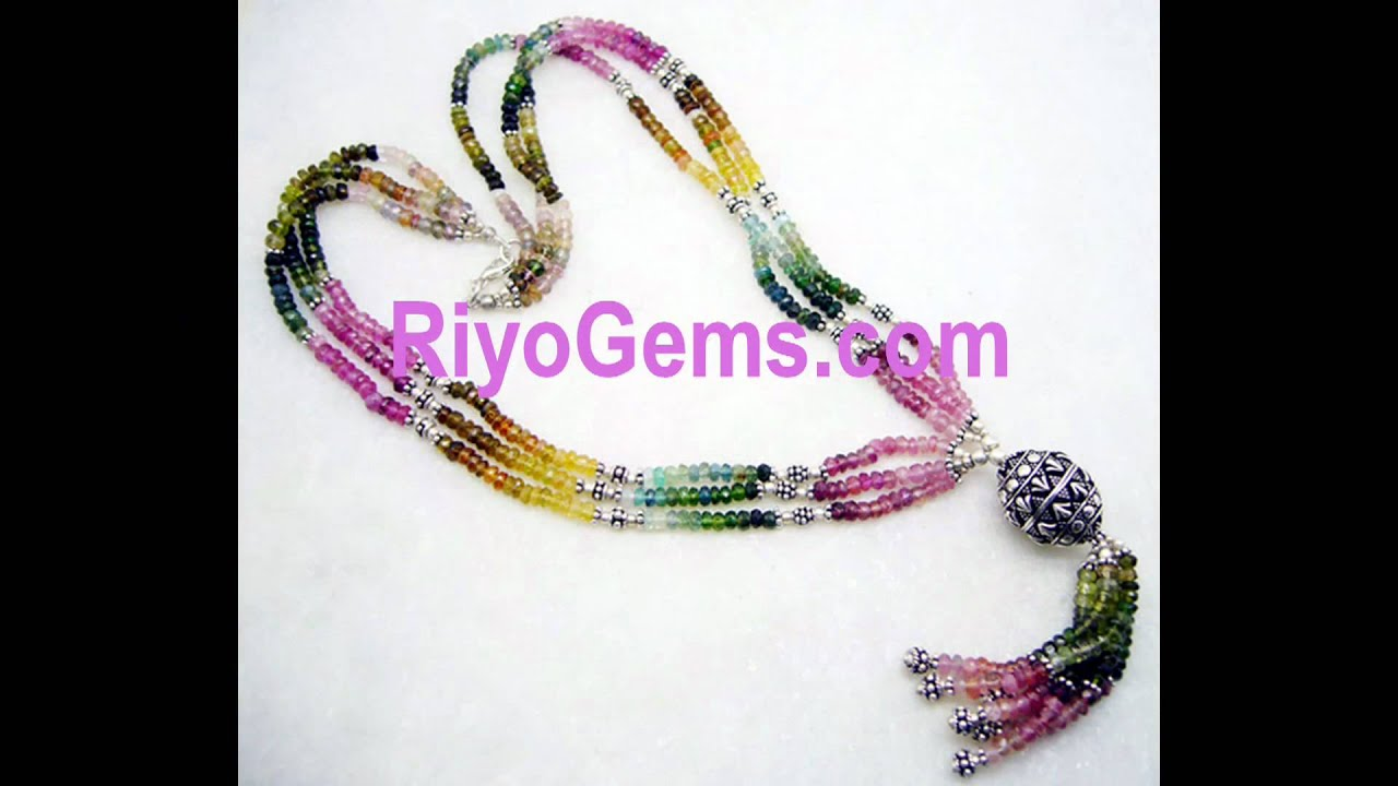 tourmaline beads necklace jewelry manufacturer from Silver Jewelry ...
