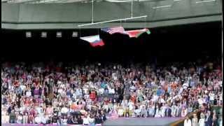 Американский флаг упал на Олимпийских играх в Лондоне
