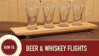 Repeat youtube video Woodworking: How to Make a Beer Flight a Whiskey ...