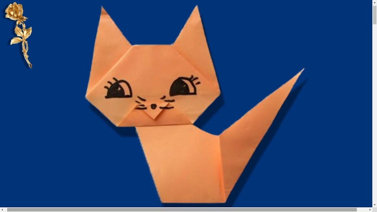 Origami facile animaux fashion designs - Origami chat facile ...