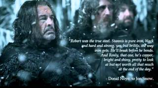 Quotes about Stannis Baratheon (Woodkid - Iron)