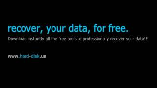 TUTORIAL - RECOVER Hard Disk lost data for FREE - It works!!!