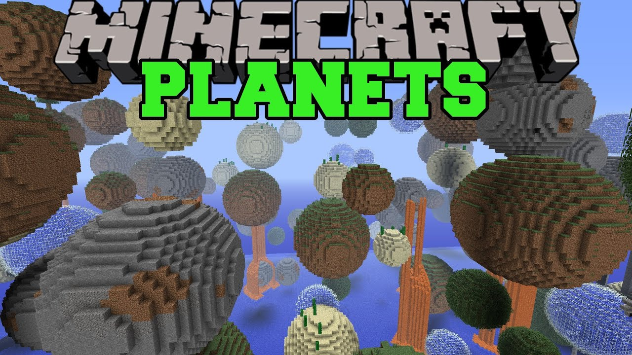 Minecraft: PLANET MOD (TONS OF MINI PLANETS TO EXPLORE ...  Minecraft: PLAN...