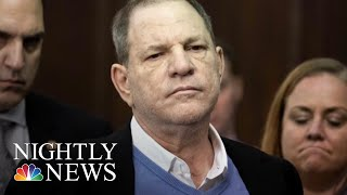 The three counts involve two women: Lucia Evans, who says Weinstein forced her to perform a sex act in 2004, and an unidentified woman who says he raped her in a Manhattan hotel in 2013. Weinstein was