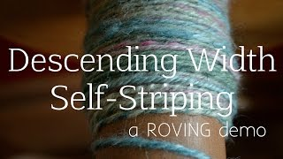 ROVING Book Trailer: How to Spin a Descending Width Self Striping Yarn