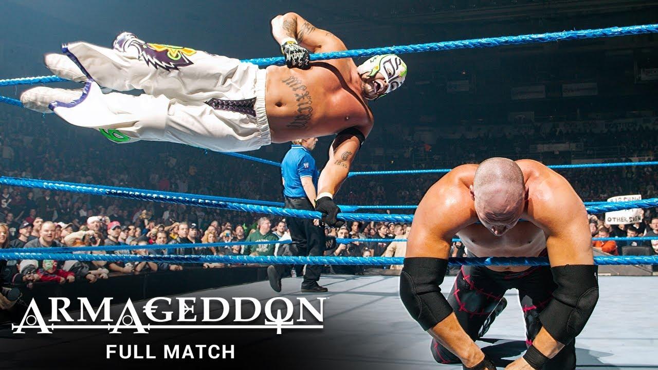 Download FULL MATCH - Batista & Rey Mysterio vs. Kane & Big Show: WWE Armageddon 2005