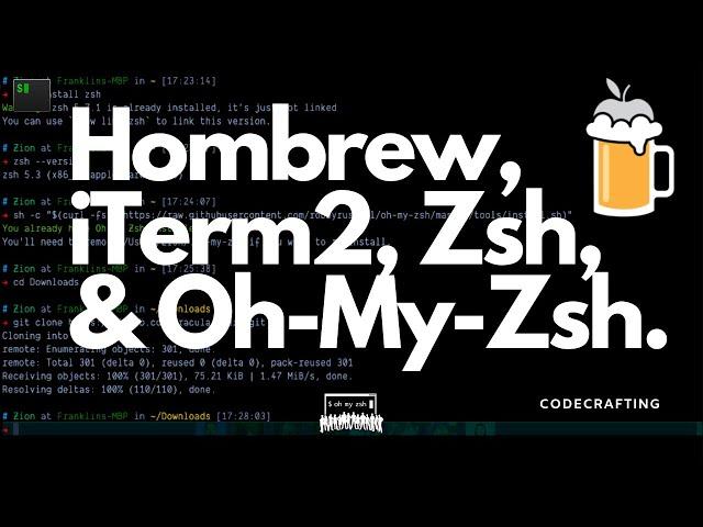 Setup Brew, iTerm2, Zsh, & Oh-My-Zsh! - #06