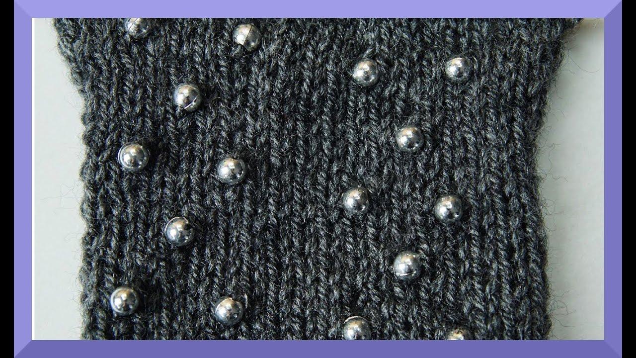 PERLEN EINSTRICKEN ANLEITUNG - Wie strickt man Perlen ein ? - YouTube